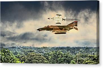Black Widows. F4 Phantom Canvas Print