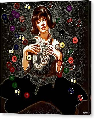 Black Wig Mm Canvas Print by Daniel Janda
