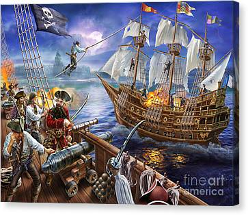 Blackbeard Canvas Print by Adrian Chesterman