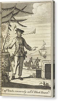 General Concept Canvas Print - Blackbeard by British Library