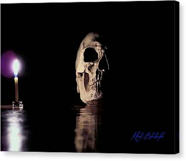 Canvas Print featuring the photograph Blackbeard's Skull by Mark Blauhoefer