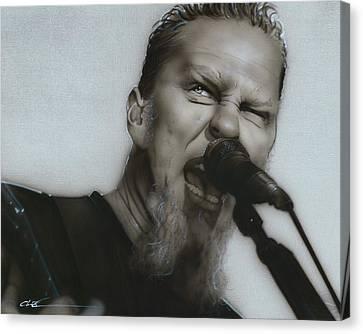 James Hetfield - ' Blackened ' Canvas Print