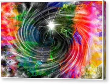 Blackhole Creation Canvas Print