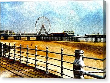 Blackpool Piers Canvas Print