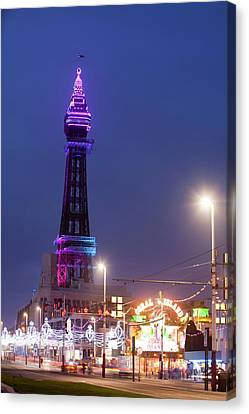 Blackpool Tower Illuminated Canvas Print by Ashley Cooper