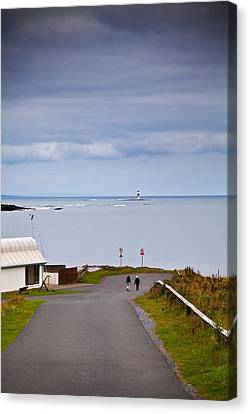Blackrock Lighthouse, Off Rosses Point Canvas Print by Panoramic Images