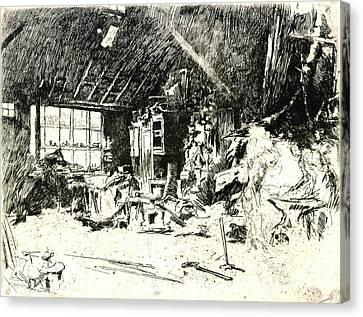 Blacksmith 1880 Canvas Print by Padre Art