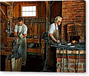 Blacksmith And Apprentice Canvas Print by Steve Harrington