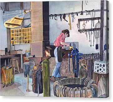 Blacksmith Canvas Print by Carol Burghart
