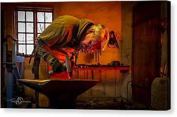 Blacksmith In Torresta Canvas Print