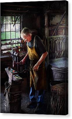 Personalized Canvas Print - Blacksmith - Starting With A Bang  by Mike Savad
