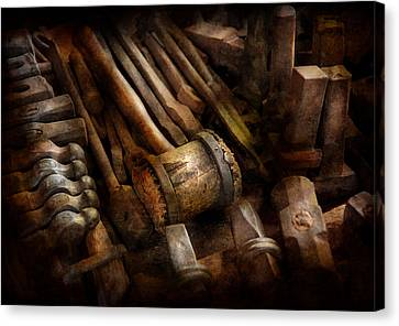 Blacksmith - The Art Of Pounding  Canvas Print by Mike Savad