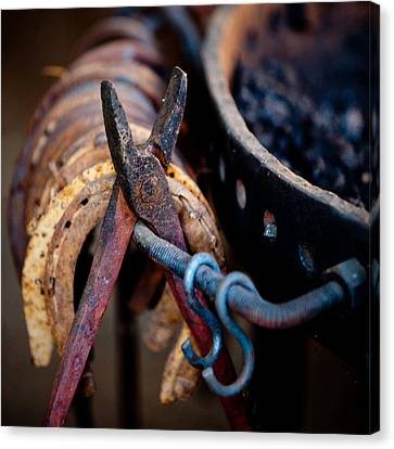 Blacksmith Tools Canvas Print by Art Block Collections