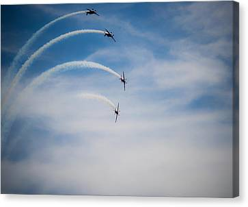 Canvas Print featuring the photograph Blades Formation Loop by Scott Lyons