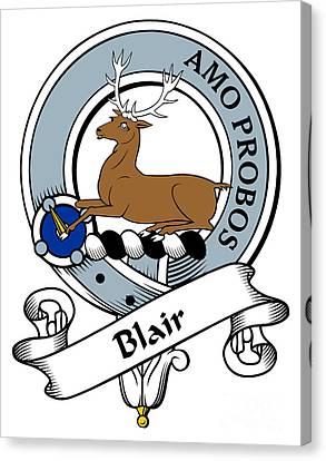 Blair Clan Badge Canvas Print by Heraldry