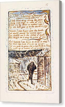 Blake Chimney Sweeper Canvas Print by Granger