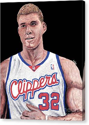 Blake Griffin Canvas Print by Israel Torres
