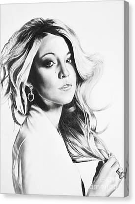 Blake Lively Canvas Print by Michael Durocher