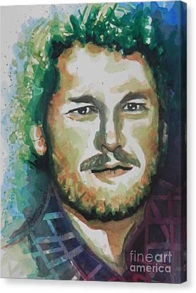 Blake Shelton  Country Singer Canvas Print by Chrisann Ellis