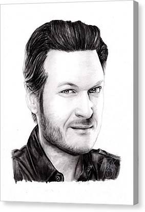 Blake Shelton Canvas Print by Rosalinda Markle