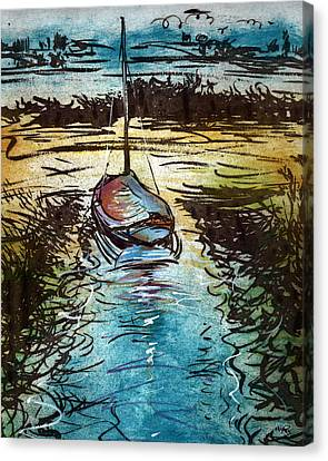 Blakeney Key Canvas Print by William Rowsell