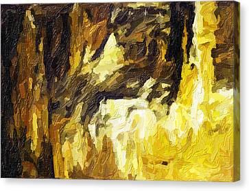 Blanchard Springs Caverns-arkansas Series 02 Canvas Print by David Allen Pierson
