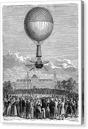 Blanchard's First Balloon Flight Canvas Print