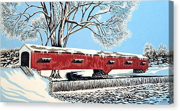 Blankets Of Winter Canvas Print by David Linton