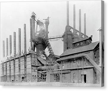 Blast Furnace Canvas Print by Hagley Museum And Archive