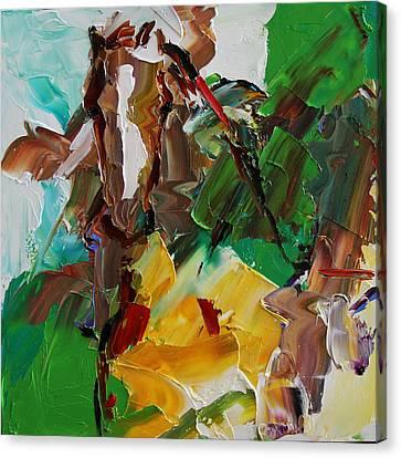 Blaze Of White Horse 23 2014 Canvas Print