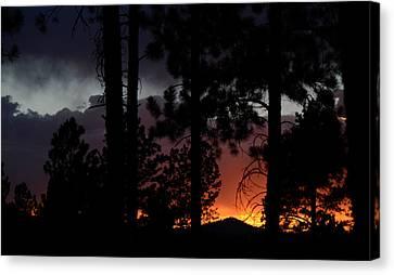 Blazing Black Hills Sunset Canvas Print by Dakota Light Photography By Dakota