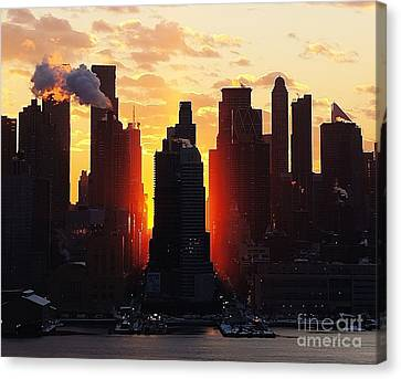 Blazing Morning Sun Canvas Print