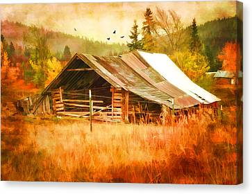 Blazing Ranch Canvas Print by Mary Timman