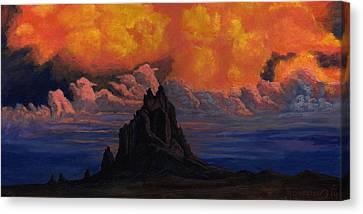 Blazing Skys Of Shiprock Canvas Print by Timithy L Gordon