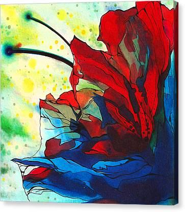 Bleeding Flower Canvas Print by Andrea Carroll