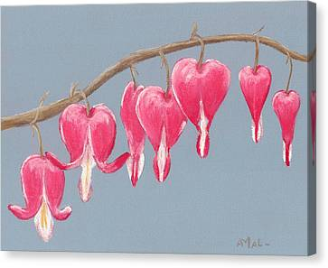 Canvas Print - Bleeding Hearts by Anastasiya Malakhova