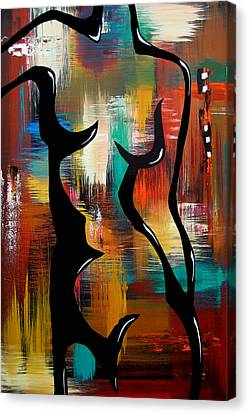 Blender - Original Abstract Art By Fidostudio Canvas Print by Tom Fedro - Fidostudio