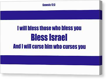 Bless Israel Poster Canvas Print