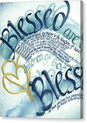Christian Sacred Canvas Print - Blessed by Amanda Patrick