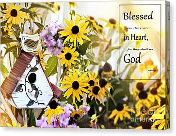 Phlox Canvas Print - Blessed Are The Pure In Heart by Stephanie Frey