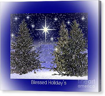 Blessed Holidays Canvas Print