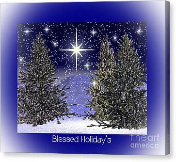 Blessed Holidays Canvas Print by Eva Thomas