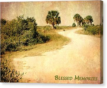 Blessed Memories Canvas Print by Dawn Currie