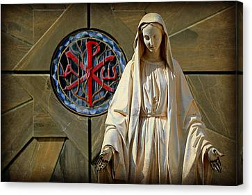 Blessed Virgin Mary -- Nazareth Canvas Print by Stephen Stookey