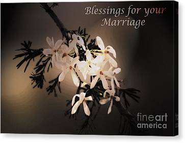 Blessings For Your Marriage Canvas Print by Cassandra Buckley
