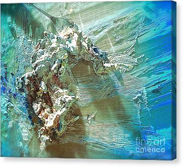 Bleu Comme Le Danube Canvas Print by Delona Seserman
