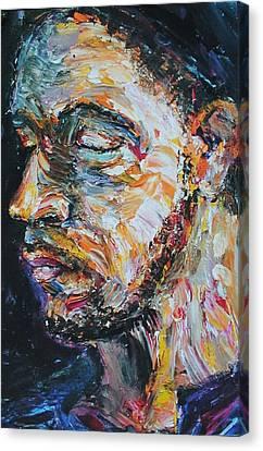 Blind Beggar Canvas Print by Carl Geenen