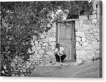 Blind Man And His House Canvas Print by Ilker Goksen