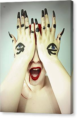 Blind Sight Canvas Print by Eating Strawberries