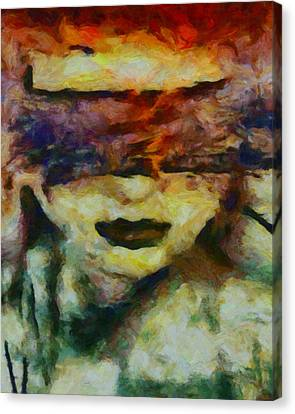Canvas Print featuring the digital art Blinded By Sorrow by Joe Misrasi